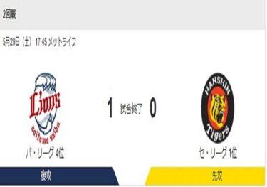 5月29日(土)阪神 vs 西武 2回戦 メットライフドーム